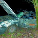 A balesetet szenvedett autó