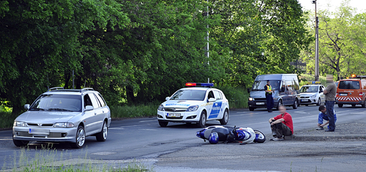 motoros baleset a Gödöllői úti elágazásnál-500