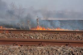 Több helyen égett a váci vasútvonal menti töltés