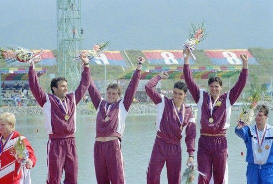 Gyulai Zsolt és az olimpiai bajnok csapat