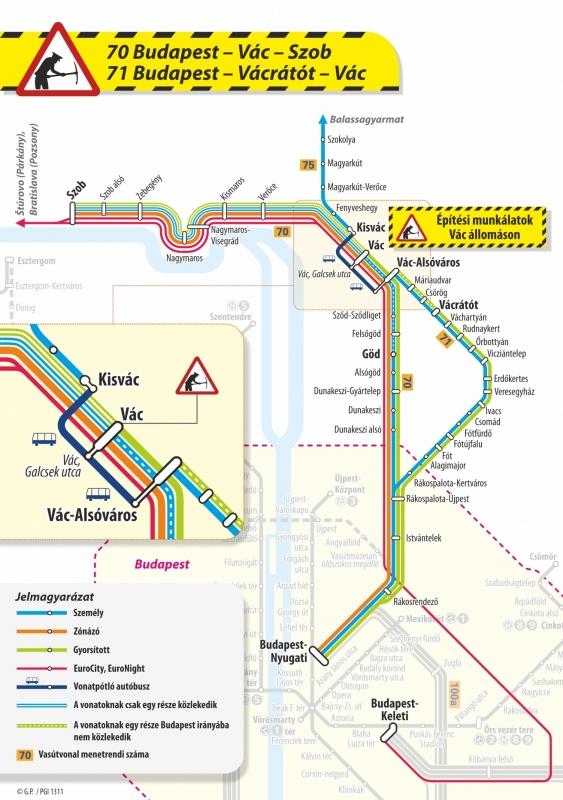 budapest vác térkép Vác: vasárnaptól ismét módosul a vasúti menetrend · Váci Napló Online budapest vác térkép