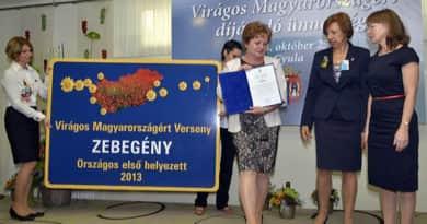 Virágos Pest megye: Zebegény képviseli az országot