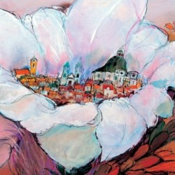 Virágos Vácért rajz