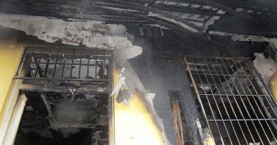 Teljesen kiégett egy sződi üzlet irodahelyisége