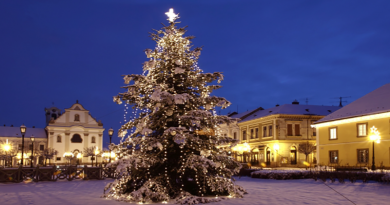 Keresik Vác karácsonyfáját