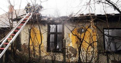 Leégett egy ikerház egyik fele Nagybörzsönyben