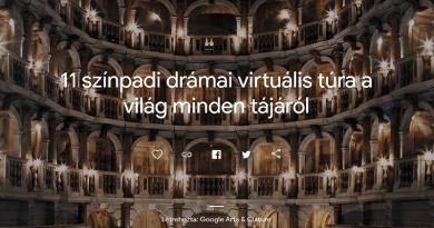 Járjuk be a világ nagy színpadait egy virtuális túrán