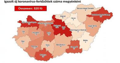 Koronavírus: már megyei bontásban is készül térkép