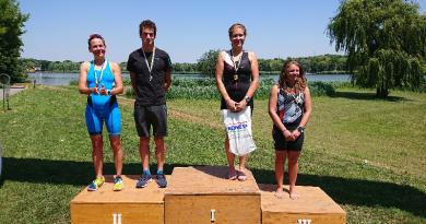 Triatlonos siker: Balogh-Baksza Anita a nők abszolút versenyében győzött