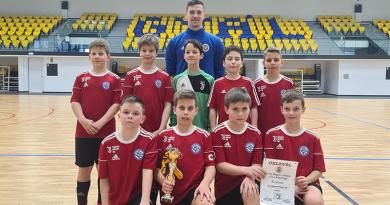 Futsal: harmadik lett a Dunakanyar Régió UFC ifjú csapata