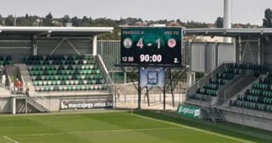 Háromból három vereség a Vác FC mérlege