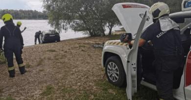 Őrizetben a Dunába hajtó autótolvaj