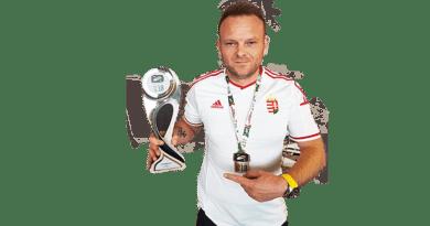 Gombfociban Oláh Tamás világbajnoki bronzérmes