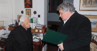 Pálos Frigyes atyát köszöntötték 95. születésnapján