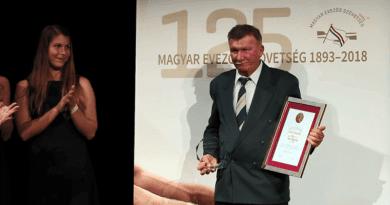 Rapcsák Károly életműdíjat kapott a szövetségtől