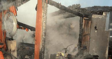 Leégett egy fából készült melléképület Verőcén